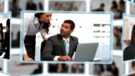 Montage of business people in different situations video