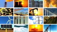 Montage of Contrasts in Clean Power & Fossil Fuel Pollution video