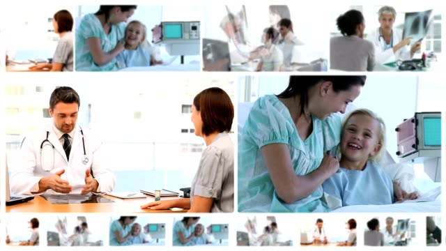Montage of doctors with their patients video