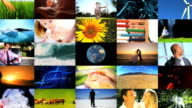 Montage of human and environmental ecosystems video