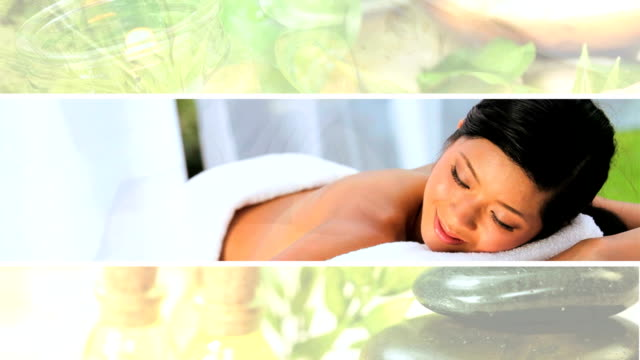 Montage of Luxury Female Spa Lifestyle video