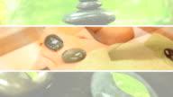 Montage of Luxury Hot Stone Massage Treatment video