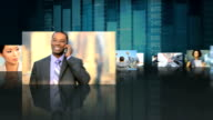 Montage of Multi ethnic managers finance success video
