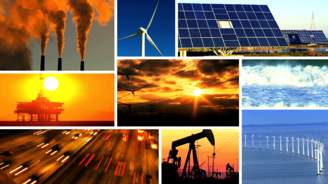 Montage of Renewable Energy & Fossil Fuel Pollution video
