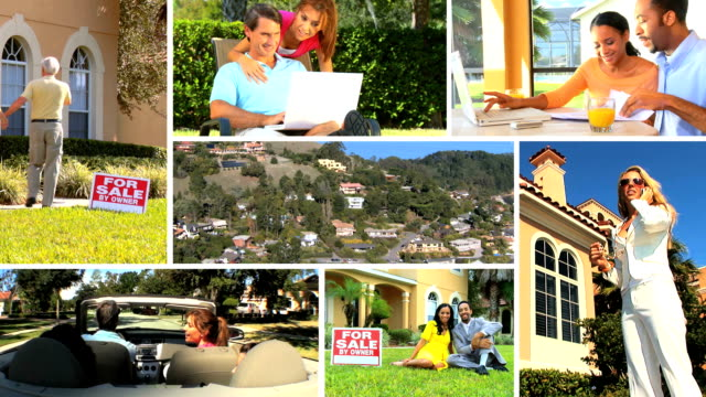 Montage of Suburban Real Estate Market video