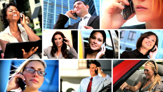 Montage of Successful Business People & Technology video