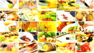 Montage Selection of Healthy Lifestyle Food Choices video
