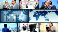 Montage Successful Business People video