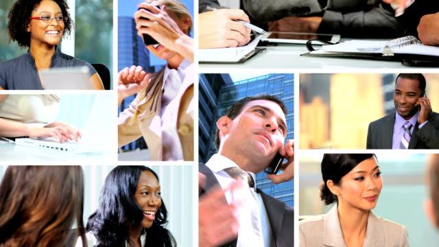 Montage Successful Multi Ethnic Career Business People video