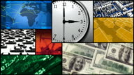 Montage - Time, Finance, Money, Business video