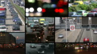 Montage - Traffic with many cars video