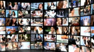 Montage Video Wall Business People video