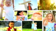 Montage Young Children Outdoor Lifestyle video