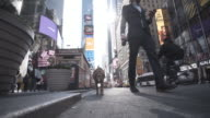 4K Montage - Young Man and Dog in Time Square New York Selfie video