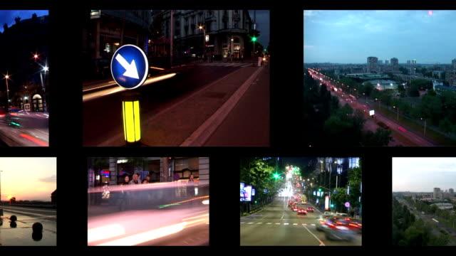LOOP MONTAGE:Traffic video