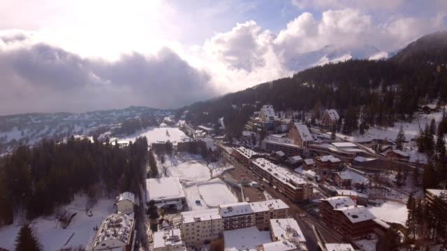 Montana Center travelling - Aerial 4K video