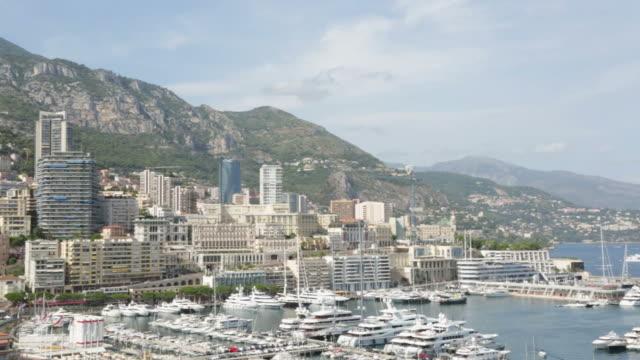 Monte Carlo city view and harbor in a sunny day, Monaco video