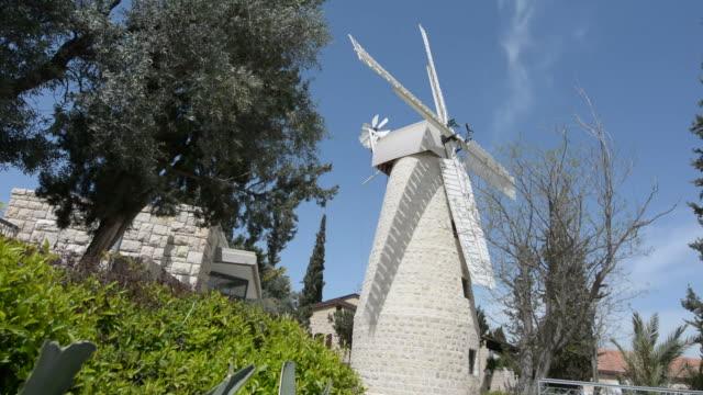 Montefiore Windmill in Jerusalem, Israel. video