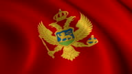 Montenegro Flag Loopable video