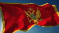 4K Montenegro Flag - Loopable video