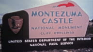 1972: Montezuma Castle national monument cliff dwellings from native american people. video