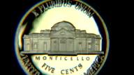 Monticello - Nickel coin video