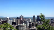 Montreal cityscape from Mont Royal belvedere video