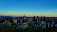 Montreal: day to night time-lapse video