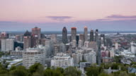 Montreal, Quebec, Canada from day to night. video