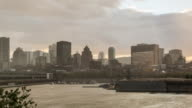 Montreal, Quebec Cityscape at Sunset video