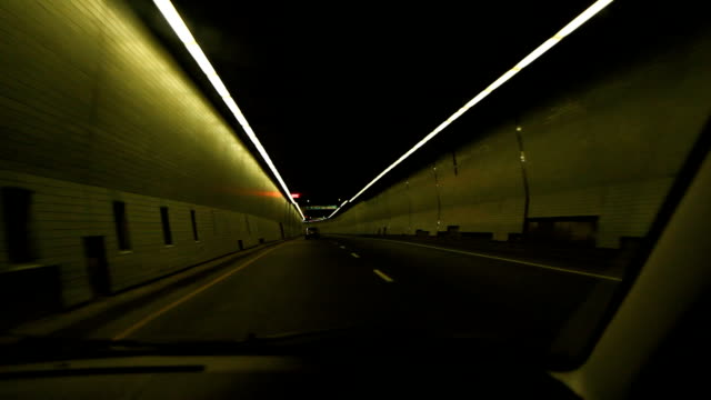 Montreal timelapse tunnel. video