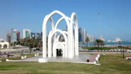 Monument in the city of Doha, Qatar video