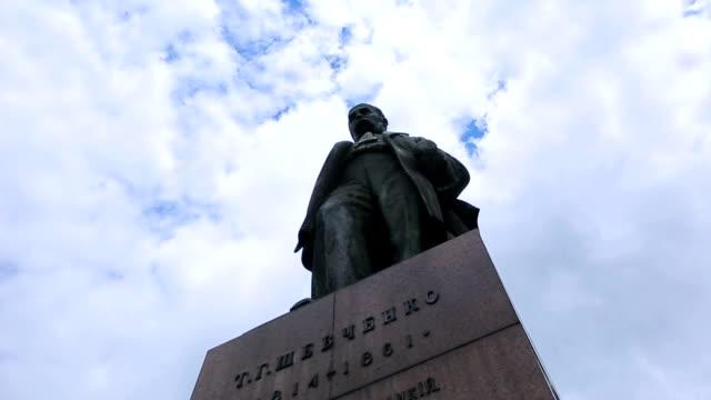 Monument Taras Shevchenko sights in Kyiv of Ukraine video