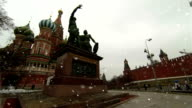 Monument to Minin and Pozharsky Red Square Moscow video