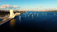 Monument to the Discoveries Lisbon aerial video