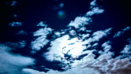 Moon and Clouds Time Lapse video