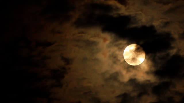 moon and clouds video