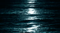 Moon light at sea, loopable video