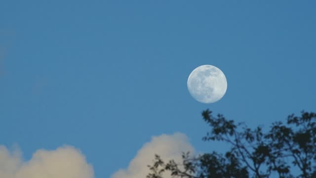 moon rise under the blue sky video