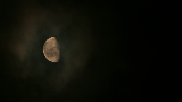 Moon time lapse video