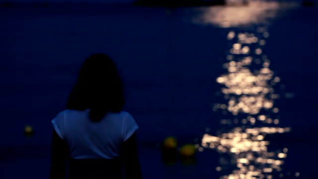 Moonlight on the sea video