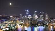 Moonrise over Pittsburgh, PA video