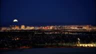 Moonrise over Vegas HD video