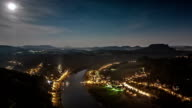Moonrise Time Lapse over river Elbe video