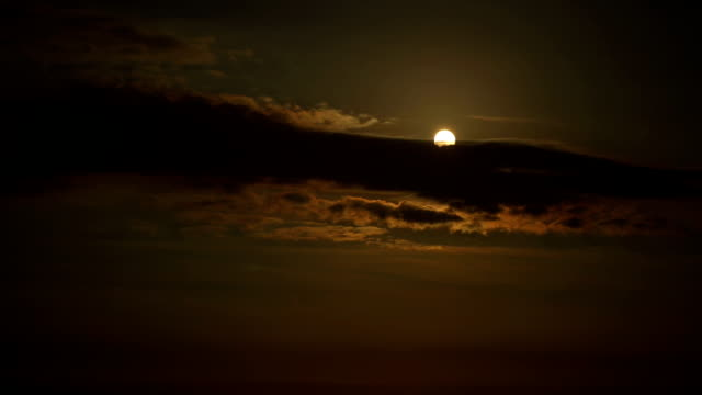Moonscape in a cloudy day video