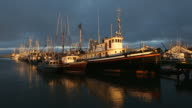 Moored Fishboats, Approaching Storm, Steveston video