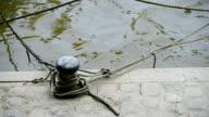 Mooring rope on deck video