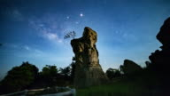 Mor Hin Khao at night, Chaiyaphum Thailand video