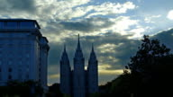 Mormon Temple in Salt Lake City - two shots video