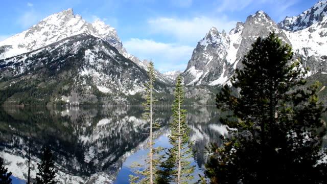 Morning at Jenny Lake in Teton National Park, Wyoming, Pan video